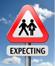 expecting a baby signpost